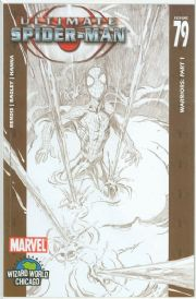 Ultimate Spider-man #79 Wizard World Chicago Sketch Variant Marvel comic book